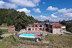 Luxury Country home for sale in Piemonte Italy - Restored Stone House within private Country Estate with Swimming pool.